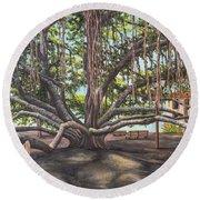 Banyan Tree Lahaina Maui Round Beach Towel