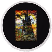 Baobab Tree  Round Beach Towel