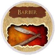 Barber Button Round Beach Towel