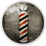 Barber Pole Selective Color Round Beach Towel