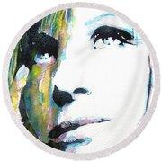 Barbra Streisand Round Beach Towel
