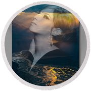 Barbra's Vision Round Beach Towel by Richard Laeton