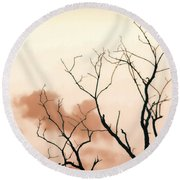 Bare Limbs Round Beach Towel