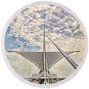 Round Beach Towel featuring the photograph Bare Metal Mam by Daniel Sheldon