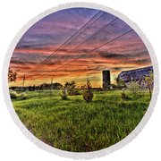Barn Finds Round Beach Towel by Nicholas  Grunas