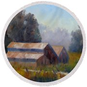 Barn Trio Round Beach Towel