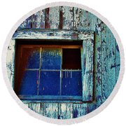 Barn Window 1 Round Beach Towel by Daniel Thompson
