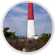 Barnegat Lighthouse Round Beach Towel by Anthony Sacco