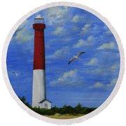 Barnegat Lighthouse Round Beach Towel