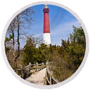 Barnegat Lighthouse II Round Beach Towel by Anthony Sacco