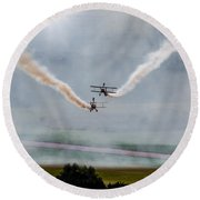 Barnstormer Late Afternoon Smoking Session Round Beach Towel