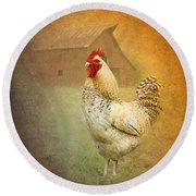 Barnyard Boss Round Beach Towel by Betty LaRue