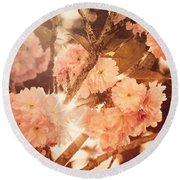 Baroque Spring Round Beach Towel
