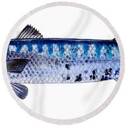 Barracuda Round Beach Towel by Carey Chen