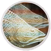 Round Beach Towel featuring the photograph Barramundi by Holly Kempe