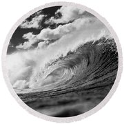 Barrel Clouds Round Beach Towel
