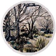 Barren Wood Round Beach Towel