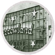 Barrowland Glasgow Round Beach Towel by Liz Leyden