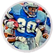 Barry Sanders Round Beach Towel