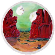 Barsoom Round Beach Towel