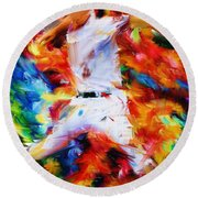 Baseball  I Round Beach Towel