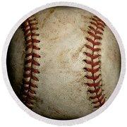 Baseball Seams Round Beach Towel