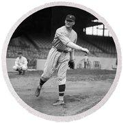 Baseball Star Walter Johnson Round Beach Towel
