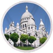 Basilica Of Sacre-coeur Round Beach Towel
