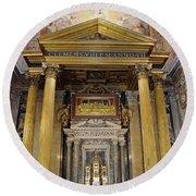 Basilica Of St John Lateran  Round Beach Towel