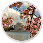 Basin Blossoms Round Beach Towel