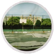 Basketball Court In A Public Park Round Beach Towel by Panoramic Images