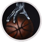 Basketball Legend Round Beach Towel