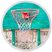 Basketball Net Round Beach Towel by Tom Gowanlock