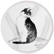Basking In The Sun 2 Round Beach Towel