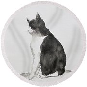 Basking In The Sun Round Beach Towel