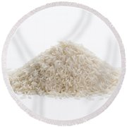 Round Beach Towel featuring the photograph Basmati Rice by Lee Avison