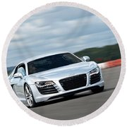 Bat Out Of Hell - Audi R8 Round Beach Towel by Gill Billington