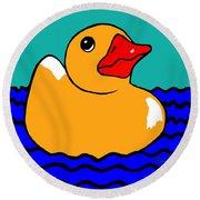 Rubber Ducky Round Beach Towel