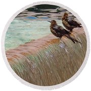 Round Beach Towel featuring the photograph Bath Time At The Adolphus by Robert ONeil