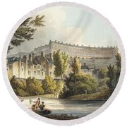 Bath Wick Ferry, From Bath Illustrated Round Beach Towel