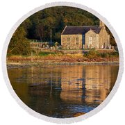 Round Beach Towel featuring the photograph Bathed In Gods Light by Wendy Wilton