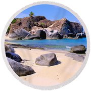 Baths Bvi Round Beach Towel