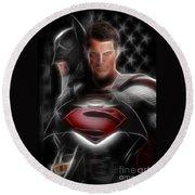 Batman Vs Superman  Round Beach Towel