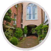 Battery Carriage House Inn Alley Round Beach Towel