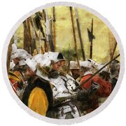 Battle Of Tewkesbury Round Beach Towel