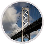 Bay Bridge After The Storm Round Beach Towel