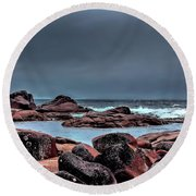 Round Beach Towel featuring the photograph Bay Of Fires 3 by Wallaroo Images