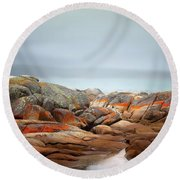 Bay Of Fires 4 Round Beach Towel by Wallaroo Images