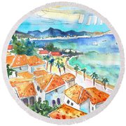 Bay Of Saint Martin Round Beach Towel