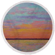 Bay Sunset Round Beach Towel by Gail Kent